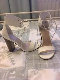 White sandals size 4 brand new