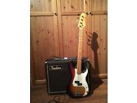 Bass Guitar and Trucker Bass Amp- Glasgow Partick