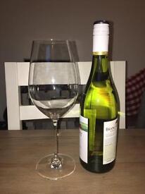 8 Large John Lewis Wine Glasses