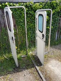Caravan main doors, with or without frames and keys.
