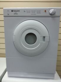 Hotpoint Vented Dryer V3D01/FS20296, 3 month warranty, delivery available in Devon/Cornwall