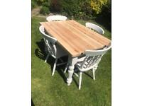 Laura Ashley painted Farmhouse table and chairs