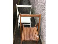 Two foldable vintage chairs