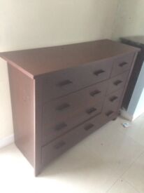 Solid Oak chest of draws