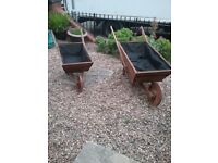 Wheel barrow planter new