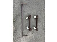 Trailer tent side storage brackets/wheels to fit Conway, Sunncamp or Cabanon