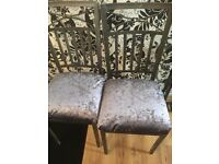 Wrought iron table and 3 chairs