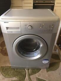 Beko A+ 6kg 1000spin silver washing machine excellent condition full working condition