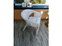 White Wicker Chairs available as a pair or singly