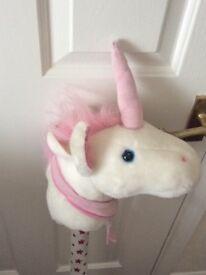 White Hobby Horse/unicorn
