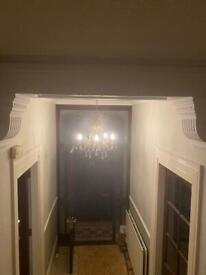 Small Brass and jewel chandelier