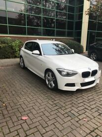 BMW 1-Series m sport white 2014 automatic Diesel sat nav heated leather