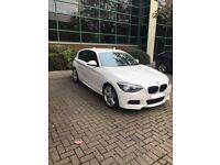 BMW 1-Series m sport white 2014 automatic Diesel sat nav heated leather