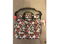 Brand new skip hop triangles changing bag and mat from jo jo maman bebe