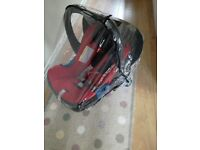 Britax car seat - single hand release in chilli pepper red
