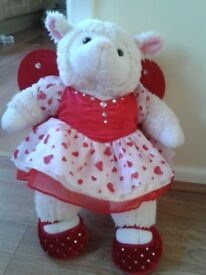 BEAR FACTORY ANIMAL WEARING BUILD A BEAR DRESS & SHOES, EXC. COND.