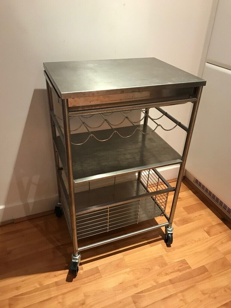 Ikea Stainless Steel Kitchen Trolley On Wheels Can Deliver In Tower Hamlets London Gumtree