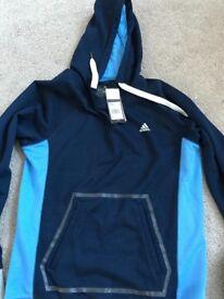 Navy & blue Adidas hoodie