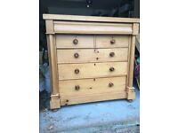 Vintage Scottish Pine Six Drawer Chest – Antique Scots