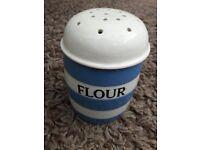 TG Green Cornishware flour shaker
