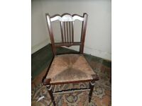 Antique Straw Seat Chair