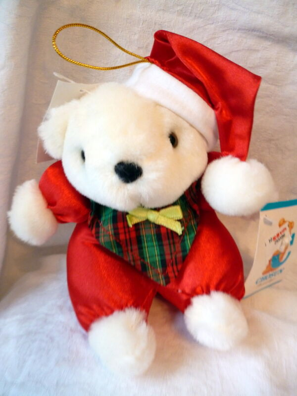 NWT CHOSUN PLUSH CHRISTMAS TEDDY BEAR ORNAMENT 5.5""