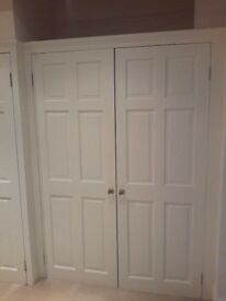 4 Internal 6 panel solid pine painted doors (2 sizes)