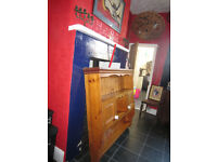 Vintage Wall mounted Welsh Dresser Top or Top for a Welsh Sideboard