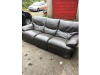3 piece 2 piece and single recliner brown sofas and chair
