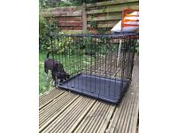 Rosewood natural puppy bed and RAC travel puppy crate/cage - RRP £62