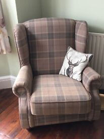 Beautiful checked armchair for sale