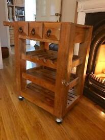 Wine rack hostess trolley