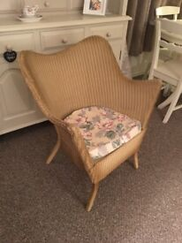 Wicker armchair. Good condition. Bought to paint and reupholster. Very comfortable. Moving house.
