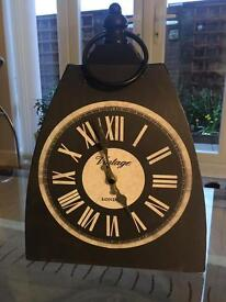 Metal vintage wall clock - good condition