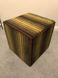 Next foot stool / cube. Green stripe
