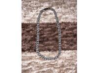 Silver iced cuban chain