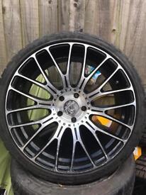 "Vortex inovit prestige 19"" alloys tyres ford Volvo jaguar Focus st rs"
