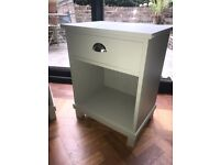 Bedside Table X2 Beautiful Gray Brushed Silver Handles