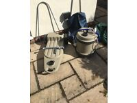Aquaroll 40ltr and wastemaster with connections and bag covers