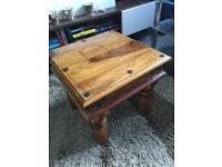 Very solid Woden side table