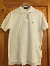 Polo Ralph Lauren White Polo Shirt S