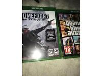 GTA V and HOMEFRONT XBOX ONE