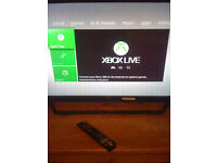 xbox360 slim console with 2 pads /250gb hdd power pack hdmi cable 2games£40
