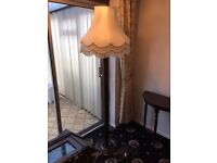 Large floor lamp with shade