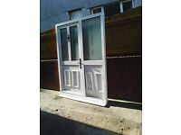 for sale is a upvc door and side screen all in working order