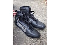 MENS LONSDALE LONDON TEAM CALZAGHE BOXING BOOTS SIZE UK 10