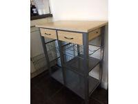 Modern Kitchen Storage Unit/Side Table - Excellent Condition!
