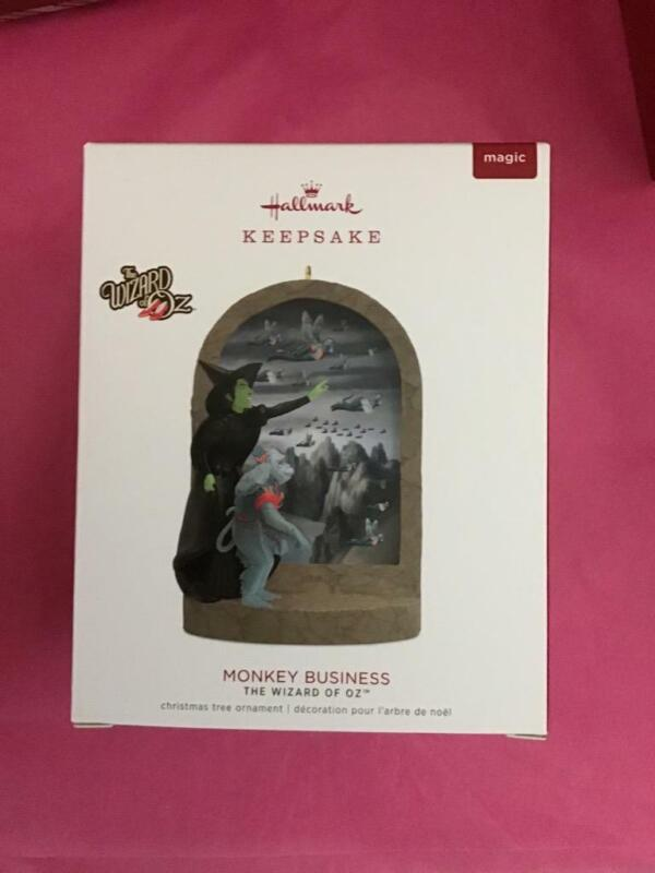 Hallmark Keepsake Ornament 2018 WOZ Monkey Business Magic Wicked Witch Rare OZ