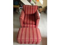 Red Striped SofaWorkshop Armchair