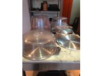 6 Cake display platters and covers